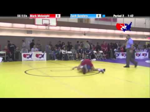 FS 55 KG - R16 - Mark McKnight (NLWC) vs. Zach Sanders (MN Storm)