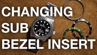 How to change a Rolex Submariner Bezel Insert