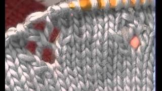 FREE MUFF - Part 2 How to create the lace stitch featured on this free knitting project.