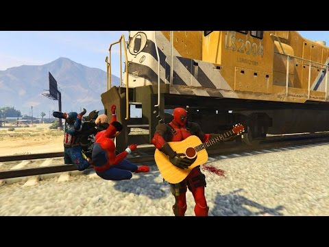GTA 5 BRUTAL COMPILATION (Grand Theft Auto V Walk with DEADPOOL V.2/Funny Moment/Thug life)