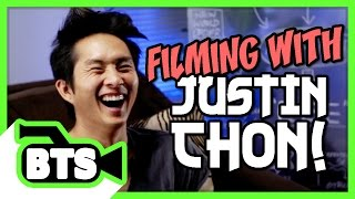 Filming with Justin Chon! (BTS)