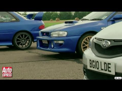 Subaru Cosworth Impreza vs old Imprezas review - Auto Express