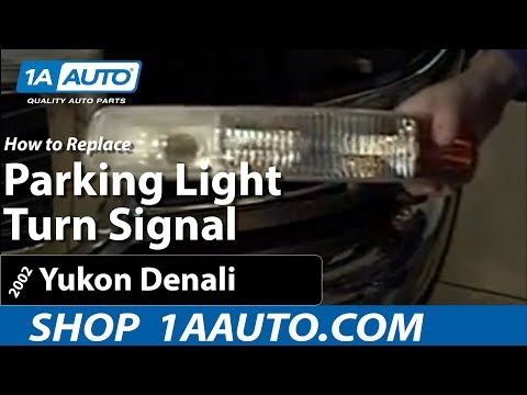How To Install Replace Parking Light Turn Signal GMC Sierra 99-06 1AAuto.com