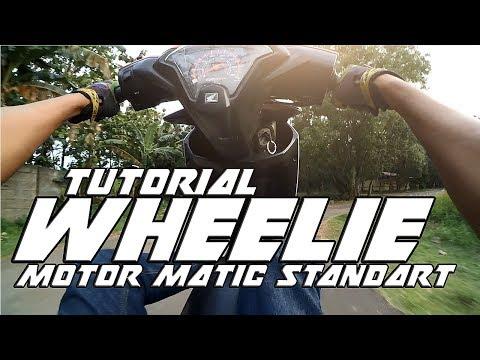 Tutorial Wheelie Motor Matic Standart | Beat Fi | motovlog indonesia