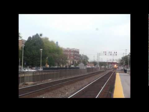 "A quick stop by the Harlem Avenue station on the BNSF Chicago Sub ""Racetrack"" at the start of the evening rush yielded a couple unusual catches. First, Amtra..."