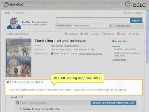 OCLC WorldCat Registry: Help users connect to your library