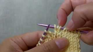 How to knit cdi (Central Double Increase)