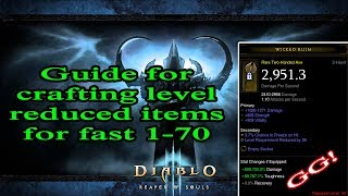 [D3] Best way to get level reduced items for fast 1-70!
