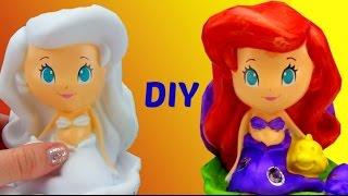 D.I.Y. Paint Your Own Princess ARIEL Vinyl Figure, Disney Kid Fun Craft Activity Coloring Toy