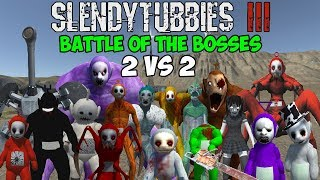 2 REALLY POWERFUL TEAMS | SLENDYTUBBIES 3 BATTLE OF THE BOSSES 2 VS 2 TEAM TOURNAMENT | END OF RND 1