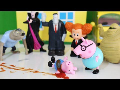 Pig George Todo Ensanguentado?? Especial de Halloween da Peppa em Português