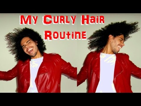 Curly Hair Routine Wash and Go Tutorial Cantu Shea Butter DermOrganic Leave in Male