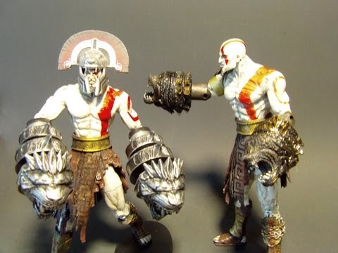 NECA NEMEAN CESTUS KRATOS God Of War 3 ACTION FIGURE TOY REVIEW