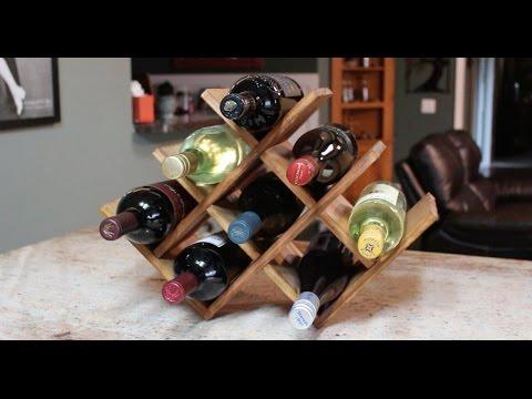 Подставка для бутылки вина из дерева своими руками 93