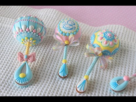 How To Make 3 D Baby Rattle Cookies With A Surprise
