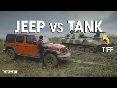 Can a Jeep beat Tiff Needell in a tank? – Off-road race
