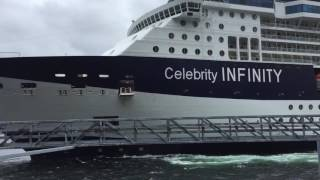 Celebrity Infinity slams into Ketchikan Dock 06/03/16