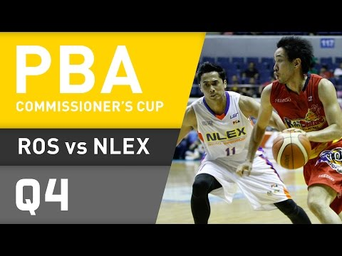RAIN OR SHINE VS. NLEX - Q4 | Commissioners Cup 2016