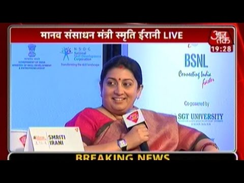 Smriti Irani Attacks Media At Education Conclave 2015