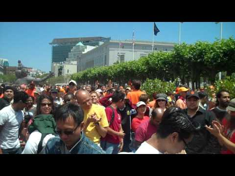 Spain Fans in San Francisco celebrate 2010 FIFA World Cup Final Win against Netherland