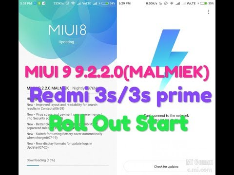 Redmi 3s/3s prime MIUI 9 9.2.2.0 Global stable ROM Roll Out