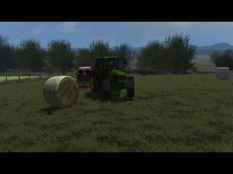 John Deere 6630 wrapping silage Farming Simulator 2013