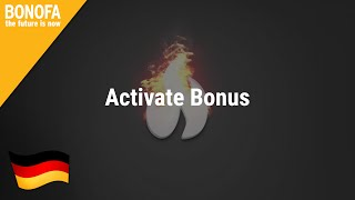 BONOFA – Activate Bonus – deutsch