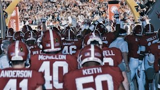 Run out of the tunnel with Alabama at the 2017 National Championship
