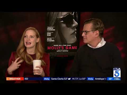 """Molly's Game"" Jessica Chastain And Aaron Sorkin Share A Mutual Admiration Of Each Other"