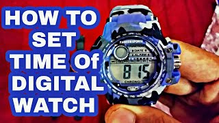 HOW TO SET TIME OF ANY DIGITAL WATCH