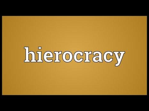 Header of hierocracy