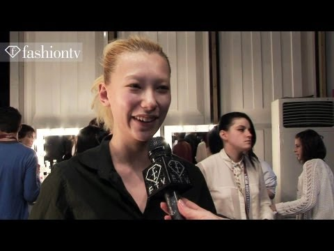 Aminaka Wilmont Fall/Winter 2013-2014 BACKSTAGE | London Fashion Week LFW | FashionTV