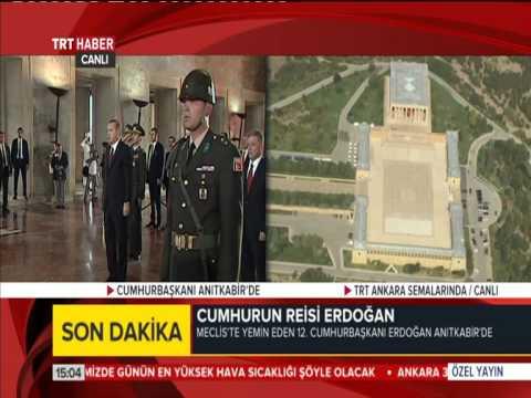 12. Cumhurbaşkanı Recep Tayyip Erdoğan Atatürk'ün Mozolesine Çelenk Bıraktı 28.08.2014