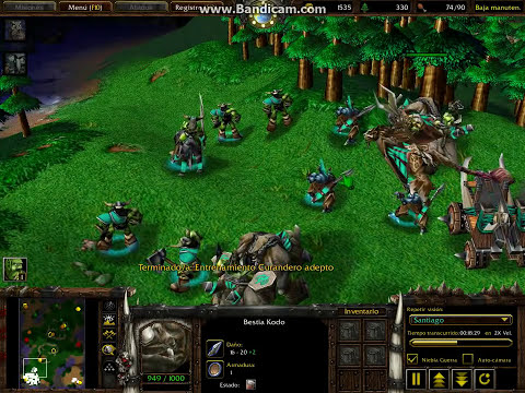 Warcraft 3 The Frozen Throne-Partida Personalizada Orcos VS Elfos Nocturnos (Parte 1/2)