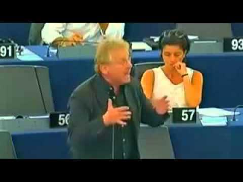 image vid�o فرنسي يقلب البرلمان الأوروبي من أجل غزة