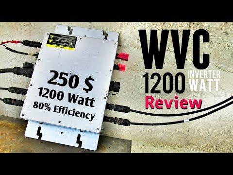 WVC 1200 Watt Micro Grid Tie Inverter In Depth Review + Efficiency Test