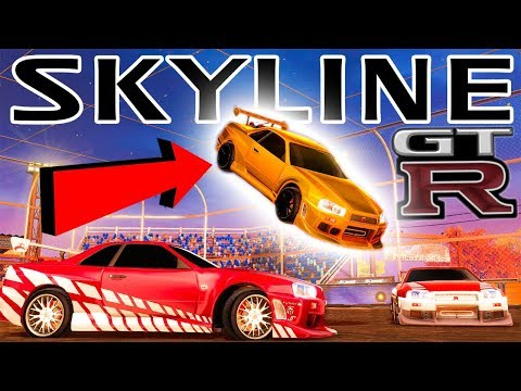 FIRST LOOK AT THE SKYLINE GTR IN ROCKET LEAGUE!!