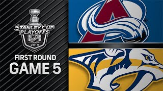 Avalanche rally late to take Game 5, extend series