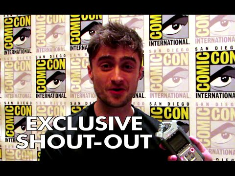 Comic Con 2014: Exclusive Daniel Radcliffe Shout-Out (HD) Horns JoBlo.com