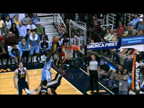 J.J. Hickson's MONSTER Facial On Marvin Williams