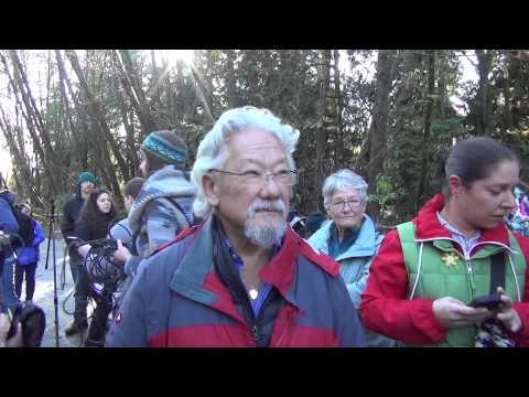 Burnaby Mountain Kinder Morgan Pipeline Protest (Nov23/14)