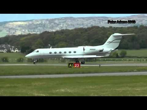 N999GP  GEP AIR GULFSTREAM 5 DEPARTING EGPF GLASGOW GLA