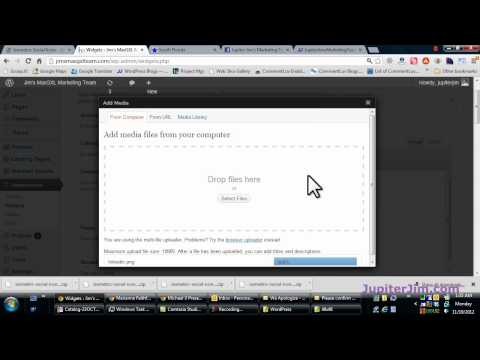 WordPress Tutorial:  How to Add Social Media Icons to your Sidebar Widgets