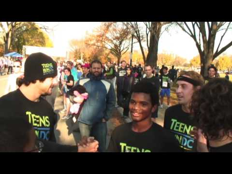 Teens Run Dc - Veteran's Day 10k - Nov. 11, 2012 video