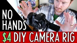$4 DIY No-Handed Camera Rig // $5 DIY Monopod // $1 Ball Head!