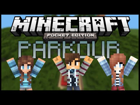 Minecraft PE PARKOUR DE MIS HERMANAS