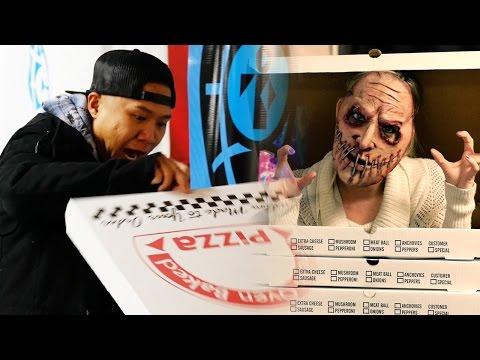 zombi en caja de pizza
