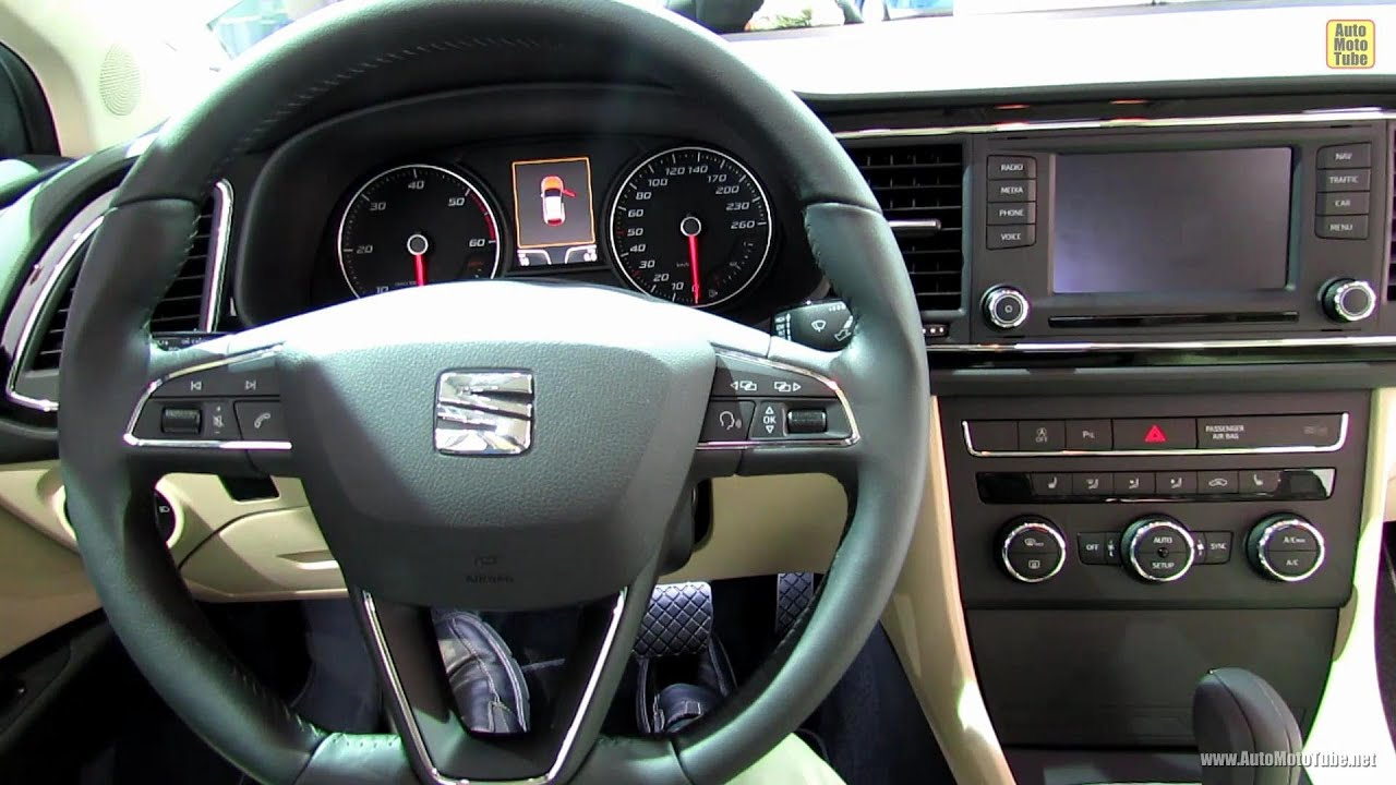 2013 seat leon tdi interior 2012 paris auto show youtube. Black Bedroom Furniture Sets. Home Design Ideas