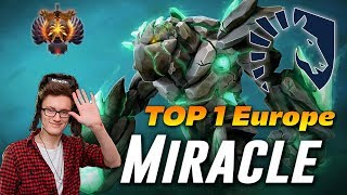 Miracle Tiny   TOP 1 Europe Rank   Dota 2 Pro Gameplay