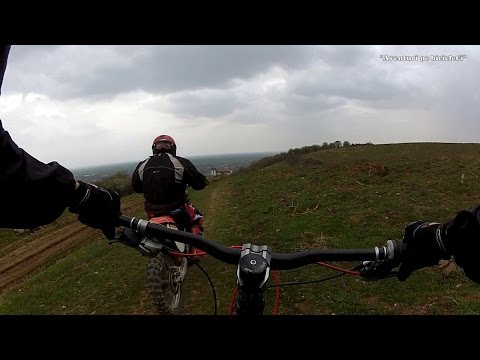 Aventuri pe bicicleta : Coborari de la Cetate, Downhill Siria, Arad, Romania